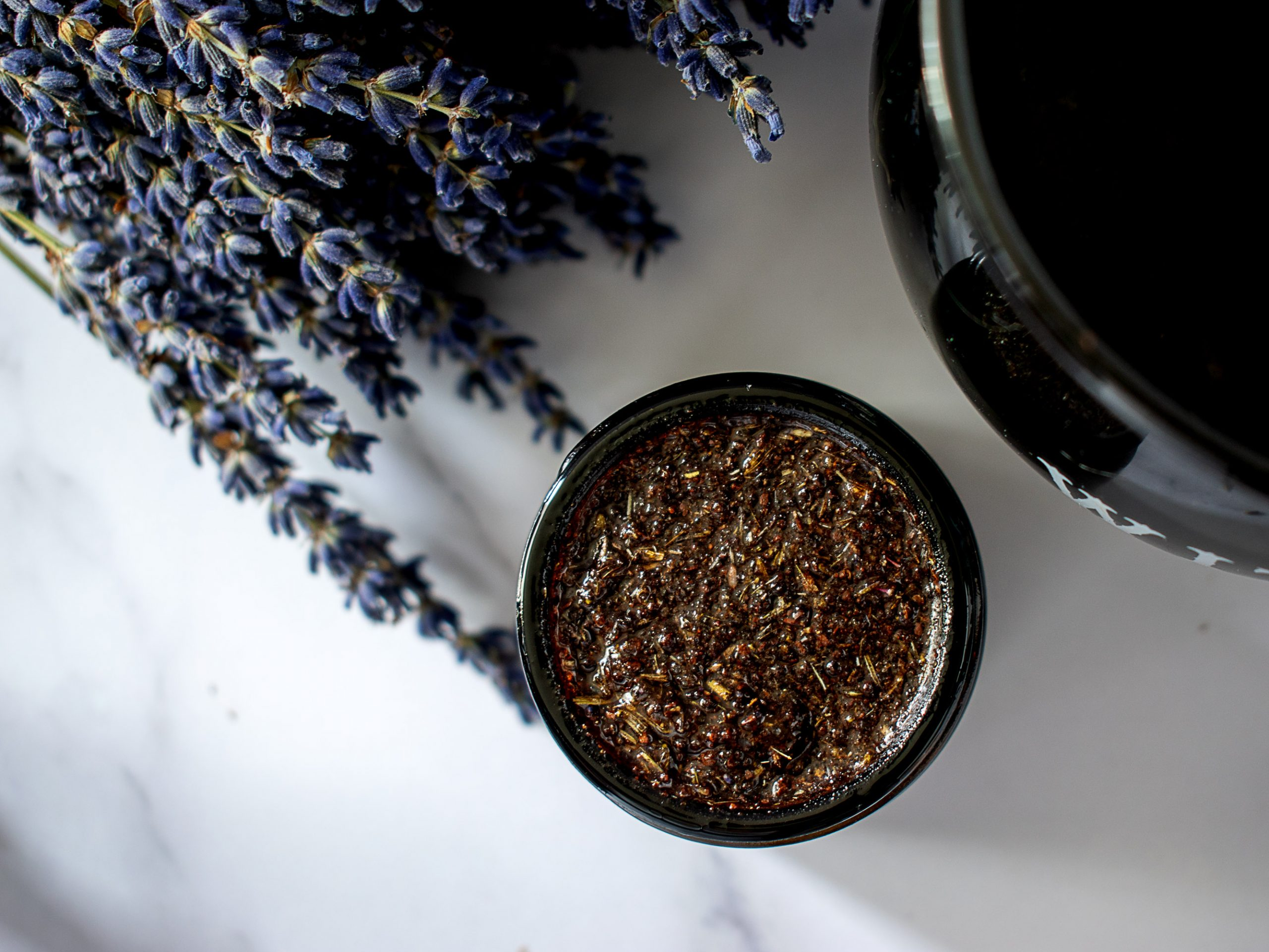 Lavender Latte Natural Lip Scrub